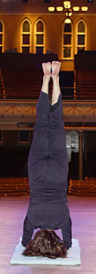 Ali Harnell doing a Head Stand